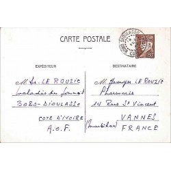 Carte postale interzones Pétain 80 c