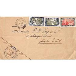 1932 Lettre pour Londres Affranchissement à 2 f 40 de St LAURENT