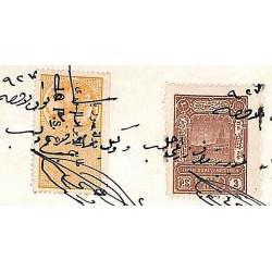 fiscal (dette publique) sur facture avec timbres d'Italie