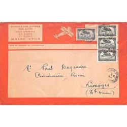 1924 enveloppe avion Latécoaire
