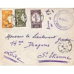 1924 Lettre 50 c. en FM...