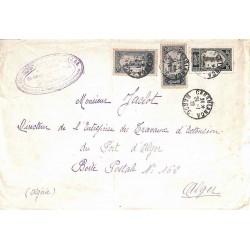 1928 Lettre 2 f. pour Alger...