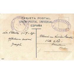 Carte postale en FM datée...