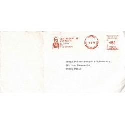 1975 Lettre avec affranchissement mécanique du CNES KOUROU