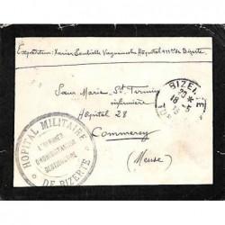 HOPITAL MILITAIRE * DE BIZERTE * L'OFFICIER D'ADMINISTRATION GESTIONNAIRE