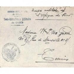INTENDANCE Mre DE LA DIVon D'OCCUPATION DE TUNISIE * GABES * Déesse