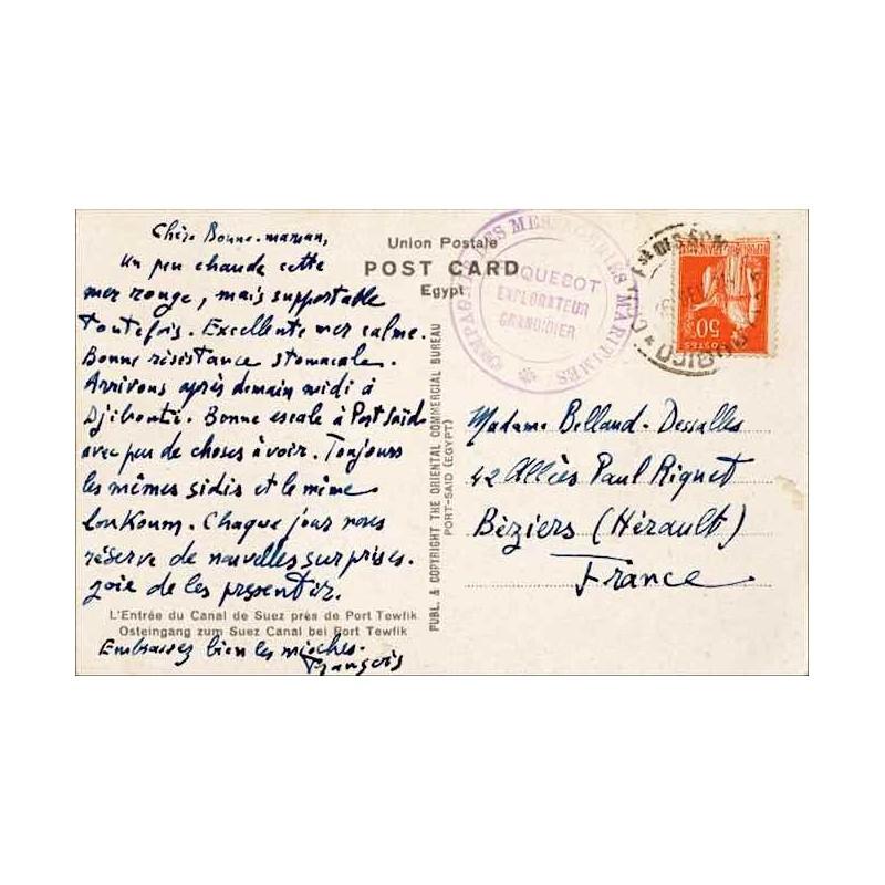 1936 Carte Postale France 50 C Paix De Djibouti