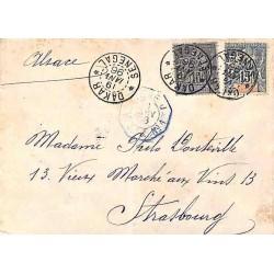 1896 lettre pour l'Alsace à...