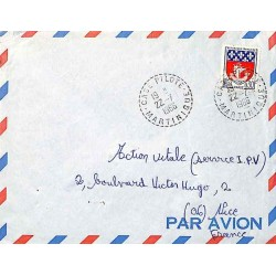 CASE PILOTE MARTINIQUE 1966 (lettres larges)