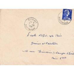 DIAMANT MARTINIQUE 1958 (lettres serrées)
