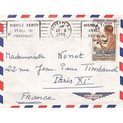 PAPEETE R.P. VISITEZ TAHITI PERLE DU PACIFIQUE 1959