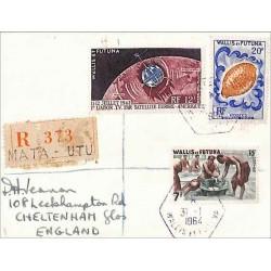 MATA - UTU WALLIS ET FUTUNA recommandée pour le Royaume Uni  1964
