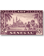 Sale postal history of Senegal with stamps on mail  - Tropiquecollections