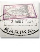 Inde française lettres et oblitération et timbre-Tropiques collections